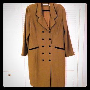 👗NEW👗EUC VTG PLUS Chaus Olive 3/4 sleeve jacket